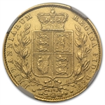 Great Britain 1869 Sovereign Gold NGC AU Details