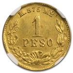 Mexico 1899-Mo M Peso Gold NGC MS-63