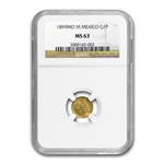 Mexico 1899-Mo M Peso Gold Coin - MS-63 NGC
