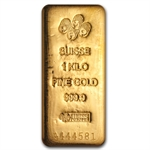 1 Kilo (32.15 oz) Gold Bar - Pamp Suisse - .9999 Fine