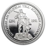 1986 1 oz Swiss Platinum Shooting Thaler (Proof)