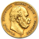 Germany (Prussia) 10 Mark Gold Coin (Avg Circ) AGW .1152