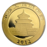 2012 (1/4 oz) Gold Chinese Panda - MS-69 PCGS First Strike