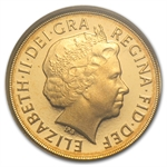 The 2012 Gold Quarter Sovereign PR-70 DCAM PCGS (FS)
