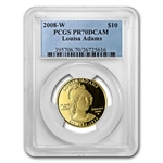 2008-W 1/2 oz Proof Gold Louisa Adams PR-70 PCGS DCAM