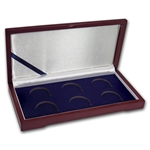 Hardwood 6-Coin Gift Box - 38mm