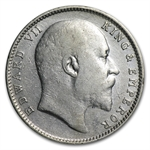 India 1904 1 Rupee Silver VF/EF Edward VII
