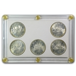 1965 Canadian Silver Dollar 5 Coin Type Set (BU/Prooflike)