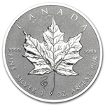 2013 1 oz Silver Canadian Maple Leaf - Snake Privy