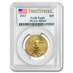 2013 1/2 oz Gold American Eagle MS-69 PCGS First Strike