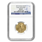 2013 1/4 oz Gold American Eagle MS-69 NGC Early Releases