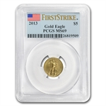 2013 1/10 oz Gold American Eagle MS-69 PCGS First Strike