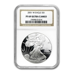 1986-2013 Proof Silver American Eagle 27 coin Set PF-69 UCAM NGC