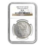 1880/79 Morgan Dollar - XF-45 NGC VAM-23 80/79 Overdate Top-100