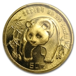 1986 (1/2 oz) Gold Chinese Pandas - MS-68 PCGS