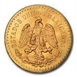 Mexico 1927 50 Peso Gold MS-64 PCGS