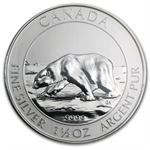 2013 1.5 oz Silver Canadian $8 Polar Bear MS-69 NGC