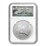2013 1 oz Silver New Zealand Treasures $1 Kiwi NGC SP-70 (ER)