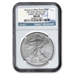 2013 (W) Silver American Eagle - MS-69 NGC - Early Releases