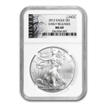 2012 Silver American Eagle - MS-69 NGC - ALS Label/Early Release