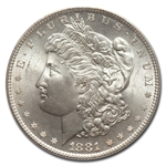 1881-S Morgan Dollar - MS-67 PCGS - CAC