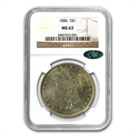 1886 Morgan Dollar MS-63 NGC - Nice Toning - CAC