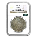 1898 Morgan Dollar MS-64 NGC - Nice Toning - CAC