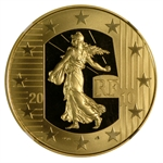 2010 1/2 oz Gold Proof-The Sower-50th Anniv. Franc PF-70 UC NGC