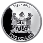 2013 1 oz Silver New Zealand Mint $2 Fiji Taku .999 Fine