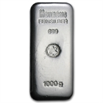 1000 gram Heraeus Silver Bar (Germany)