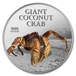 2013 1 oz Silver Niue $2 Giant Coconut Crab Coin in Box