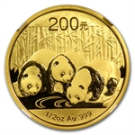 2013 (1/2 oz) Gold Chinese Panda - MS-70 NGC Early Releases