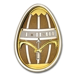 Cook Islands 2013 Silver Proof Imperial Egg in Cloisonné - Gold
