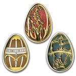 Cook Islands 2013 Silver Imperial Eggs in Cloisonné -3 Coin Set