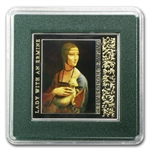 Niue 2012 Proof Silver $1 -Leonardo da Vinci -Lady with an Ermine