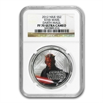 2012 Star Wars 1oz Silver $2 Niue PF-70 UCAM NGC - Darth Maul