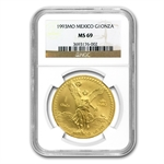 1993 1 oz Gold Mexican Libertad MS-69 NGC