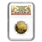 2011-W 1/2 oz Proof Gold Lucy Hayes PF-69 UCAM Early Release-NGC