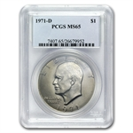 1971-D Eisenhower Dollar MS-65 - PCGS