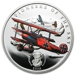Palau 2008 Silver Proof $5 Pioneers of the Sky - Red Baron