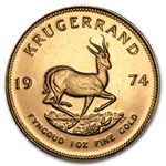 1974 1 oz Gold South African Krugerrand BU