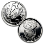 South Africa 2003 Silver 4 Coin Proof Set Rhino