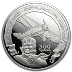 Bhutan 2010 Silver Proof Transatlantic Flight - Charles Lindbergh