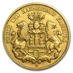 Hamburg (Germany) 10 Mark Gold Avg Circ Random Dates
