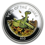 2013 Laos 1 oz Silver Year of the Snake Proof Colorized Coin