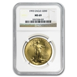1993 1 oz Gold American Eagle MS-69 NGC