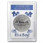 Silver American Eagle Harris Holder (It's A Boy! Design)
