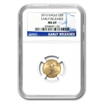 1986-2013 1/10 oz Gold American Eagle Set NGC MS-69
