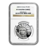 2008-W 4-Coin Platinum American Eagle PF-70 NGC Registry Set