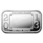 2013 1 oz Wedding Silver Bar (w/Gift Box & Capsule)
